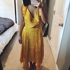 Leith yellow gold wrap dress